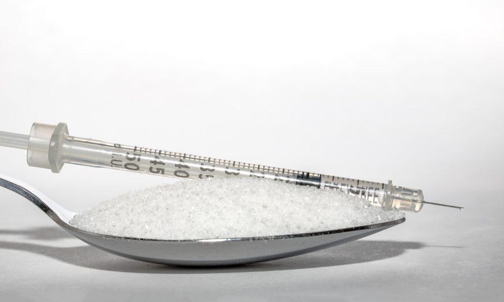 インスリン注射と砂糖