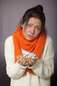 口呼吸でインフルになってしまった女性